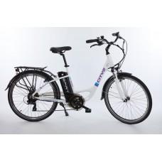 """Elektrický bicykel Spirit, mestský, 26"""",biely /250W, 36V/13Ah/ cityII"""