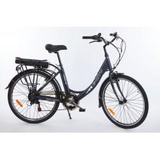 "Elektrobicykel E-city II 26"", tmavo šedá, 250W/10,4Ah"