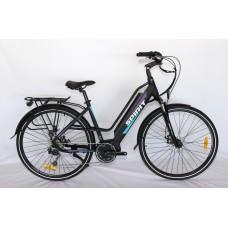 "Elektrobicykel Spirit LUCY Middle, mestský, 28"", strieborný /250W, 36V/13Ah/"