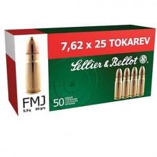 S&B 7,62x25 Tokarev FMJ